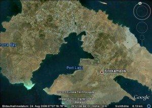 Die Hafenbucht Lakki